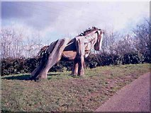 SJ6352 : Carved Horse near to Nantwich Basin End by Mike Grose