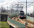 SK3686 : Sheffield Supertram descending the viaduct from Park Grange Croft by Richard Thomas