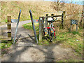 NZ4038 : Cycle path access point at Wingate by Oliver Dixon