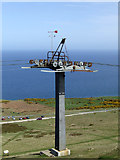 SH7683 : Cable car pylon on Great Orme Summit by Nigel Williams