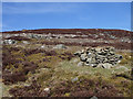 NN8939 : Shooting butts on grouse moor by Lis Burke