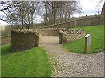 SE1025 : Sheep pound in dry stone wall exhibition, Shibden Park, Southowram, Halifax by Humphrey Bolton