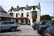 SS6644 : Parracombe: The Fox & Goose Inn by Martin Bodman