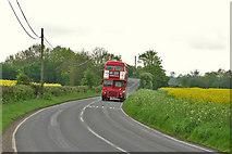 TL6921 : B1417 and Vintage Bus by Richard Thomas