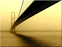 TA0224 : Humber Bridge: a view from the north side by John Wardell