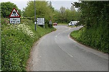 SX3258 : A Country Lane Meets the Traffic by Tony Atkin