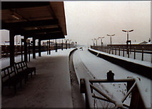 SD8912 : Rochdale Station in the snow by R lee