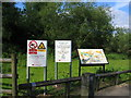 SP0379 : River Rea Walkway signs by David Stowell