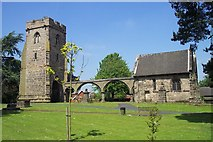 SK0418 : Ruin of Rugeley Old Church by Geoff Pick
