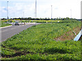 TL3965 : New roundabout, Longstanton, Cambs by Rodney Burton