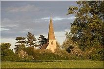 SK8770 : All Saints' church at dusk by Richard Croft