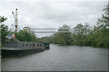 ST6669 : Pipe bridge over the River Avon, Broad Mead by Pierre Terre
