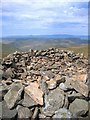SN8187 : Western summit cairn on Pumlumon Arwystli by Rudi Winter