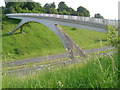 SP9411 : Footbridge over the A41 by Cathy Cox