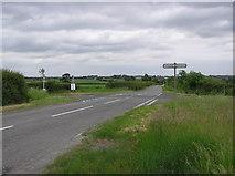 NZ3522 : Crossroads :  Looking east  towards Stillington Bridge by Hugh Mortimer