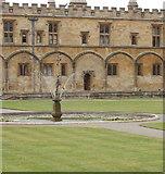 SP5105 : Mercury, fountain in Tom Quad, Christ Church, Oxford by David Hawgood