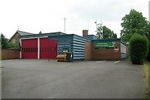 SJ7667 : Holmes Chapel fire station by Kevin Hale