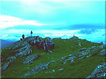 NG9422 : Sgurr an Airgid summit by Graham Benny