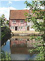 TL9925 : Cottages by the River Colne, Colchester by David Hawgood