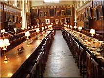SP5105 : Hall interior, Christ Church, Oxford by David Hawgood