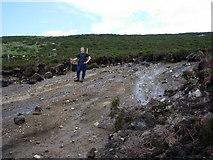 NR9530 : Hillside slump erosion, Clauchan Glen, Arran by Chris Chapman