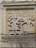 SD9828 : Datestone on New House, Northgate, Heptonstall by Humphrey Bolton