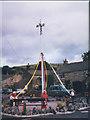 SD9772 : Kettlewell village maypole by Stephen Craven