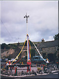 SD9772 : Kettlewell village maypole by Stephen Craven