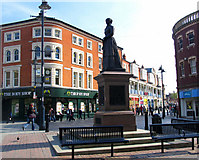 SP0198 : Sister Dora Statue, The Bridge, Walsall by Jurek and Trish  Sienkiewicz