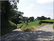 SJ3434 : Crossroads at  Old Marton by John Haynes