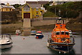 W9963 : Ballycotton harbour and lifeboat by Albert Bridge