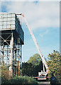 SK5192 : Surveying the water tower by Stephen Craven