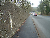 ST5294 : Milestone - 1 Mile to Chepstow by Roy Parkhouse