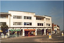 ST3261 : Art Deco shops Walliscote Road / Station Road by Alan Cooper