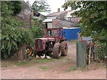 SO3820 : Old tractor at Dan-y-graig by Philip Halling