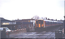 TQ2075 : Mortlake level crossing by Stephen Craven