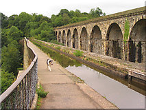SJ2837 : Chirk aqueduct and viaduct by Peter Craine
