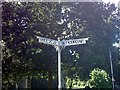 TM3969 : Old road sign on  the A1120 High Street by Adrian Cable