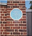 TL8205 : Blue plaque, Woodham Mortimer Hall by John Myers
