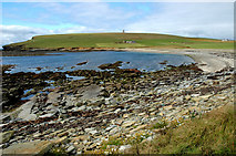 HY2224 : Choin at low tide, Marwick. by John Comloquoy