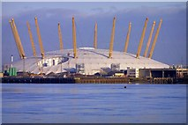 TQ3980 : Millennium Dome From Thames Path by Stephen Nunney