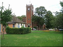 SJ9400 : Wednesfield Library and Church by John M