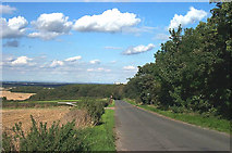SE5214 : White Ley Road, Looking north east from the footpath entrance to Barnsdale Wood.. by Bill Henderson