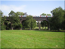 TQ2992 : Arnos Park: Piccadilly Line viaduct by Nigel Cox