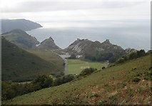 SS7049 : View of The Valley Of Rocks from Hollerday Hill by Janine Forbes