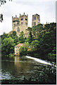 NZ2742 : Durham Cathedral from across the weir. by Carol Walker