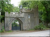 R6804 : Gothic Gate Lodge to Annesgrove Gardens. by david treacy
