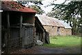 SS8522 : Knowstone: barns at Wiston by Martin Bodman