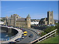 SN5881 : University College of Wales, Aberystwyth and St Michael's Church by David Stowell