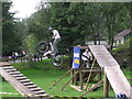 NZ0931 : Bike Skills Demonstration : Hamsterley Forest by Hugh Mortimer